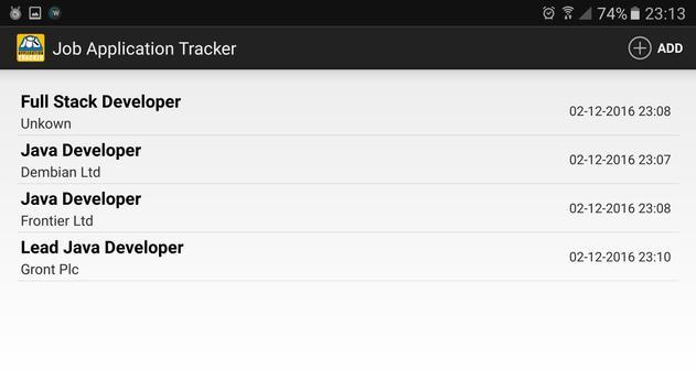 Job Application Tracker screenshot 7