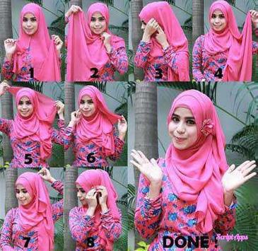 Tutorial Hijab 200+ Model Stylish 2017 screenshot 4