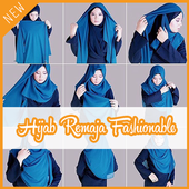 Tutorial Hijab 2017 Remaja Fashionable icon