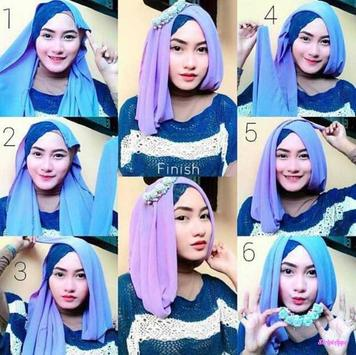 Tutorial Hijab Modern Stylish screenshot 3