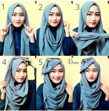 Tutorial Hijab Modern Stylish screenshot 2