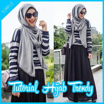 Tutorial Hijab Trendy Yang Simple poster