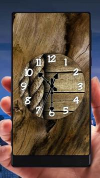 Wood Analog Clock Live Wallpaper poster