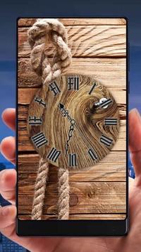 Wood Analog Clock Live Wallpaper apk screenshot