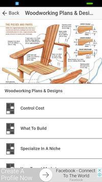Woodworking Plans & Woodworking Designs screenshot 1