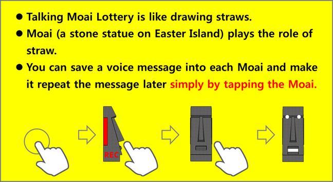 Talking Moai Lottery:Draw Lots apk screenshot
