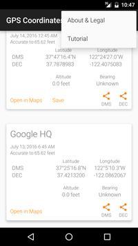 GPS Coordinates+ screenshot 2
