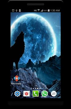 Blue Moon Wolf Live Wallpaper poster