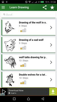 Wolves Drawing step by step poster