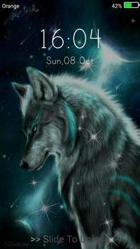 Wolf Live Wallpaper Lock Screen Screenshot 11