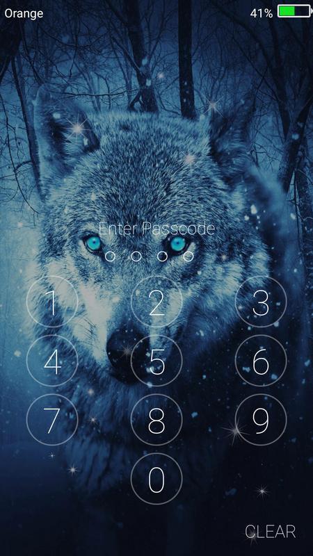 Wolf Live Wallpaper Lock Screen Screenshot 5