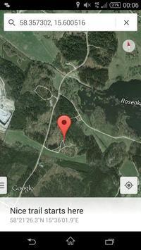 GPS Bookmarks apk screenshot