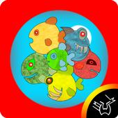 Fishes - bubble attack icon