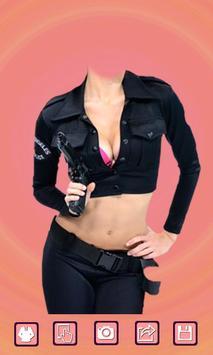 Women police suit photo maker apk screenshot