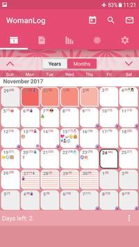 WomanLog日曆 海報