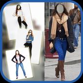 Jeans Fashion Photo Suit icon