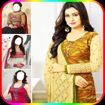 Women Salwar Photo Suit|Indian Salwar Photo Frames screenshot 4