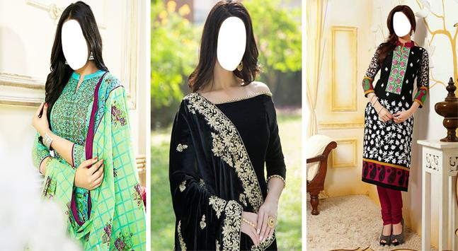 Women Salwar Photo Suit|Indian Salwar Photo Frames screenshot 2