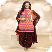 women shalwar kameez icon