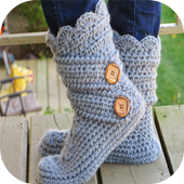 women slippers crochet icon