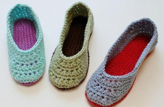 women slippers crochet poster