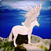 Unicorn Simulator-Flying Horse:Wonder Islands 3D icon