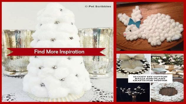 Amazing Cotton Ball Snowman Craft screenshot 1
