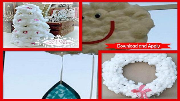 Amazing Cotton Ball Snowman Craft screenshot 2