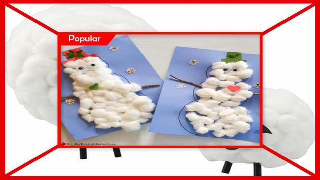 Amazing Cotton Ball Snowman Craft screenshot 3