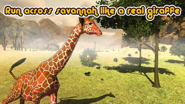 Wild Giraffe Simulator 3D poster