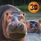 Hippo Wild Life Simulator 3D icon