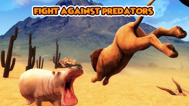 Hippo Wild Life Simulator 3D apk screenshot