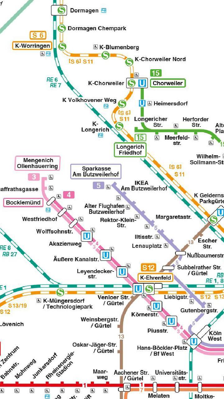 Schienennetz Köln