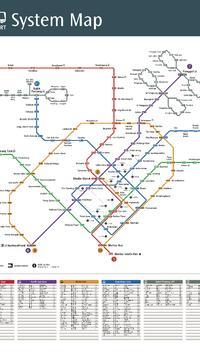 Singapore Metro Map poster