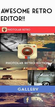 Retro camera -Vintage grunge poster