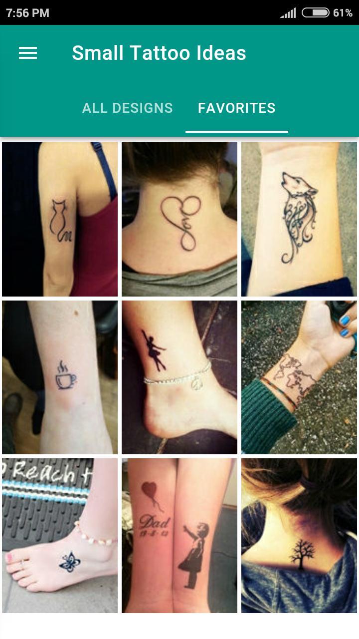 Small Tattoo Ideas für Android   APK herunterladen