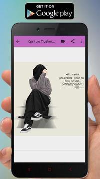 Kartun Muslimah Status WA screenshot 3