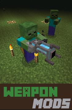 Weapon Mods For mcpe poster