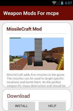 Weapon Mods For mcpe screenshot 3