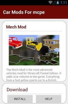 Car Mods For mcpe screenshot 19