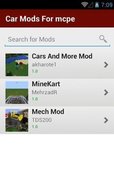 Car Mods For mcpe screenshot 1