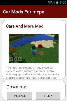 Car Mods For mcpe screenshot 2