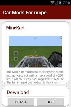 Car Mods For mcpe screenshot 8