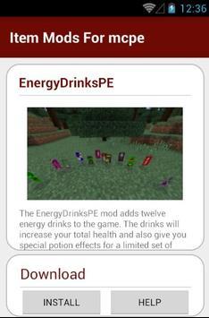 Item Mods For mcpe apk screenshot