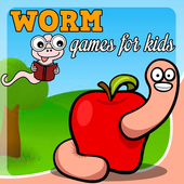 worm games free for kids icon