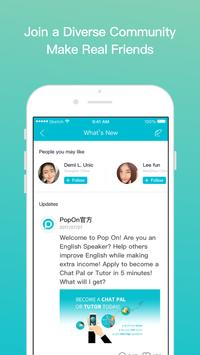 Pop On - Learn or teach English Spanish Chinese... apk screenshot