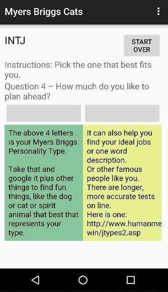 Myers briggs test deutsch