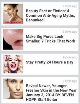 Skin care tips poster