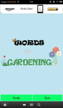 Words for Gardening poster