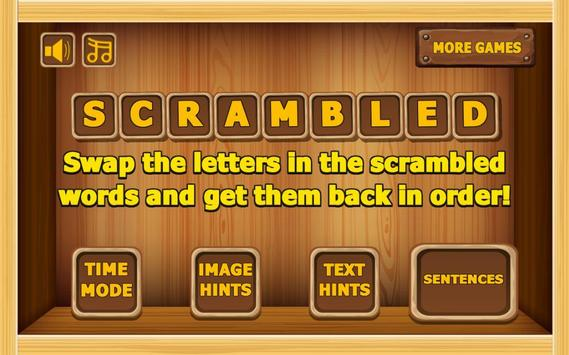 Handy  Scrambled Words  game poster